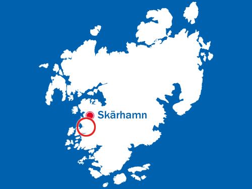 Tjörn - med Nordviksgärde inom röd ring