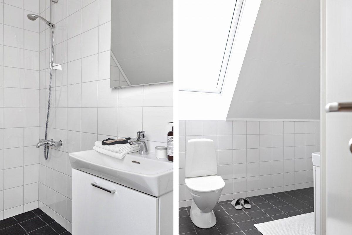 Husets ena badrum