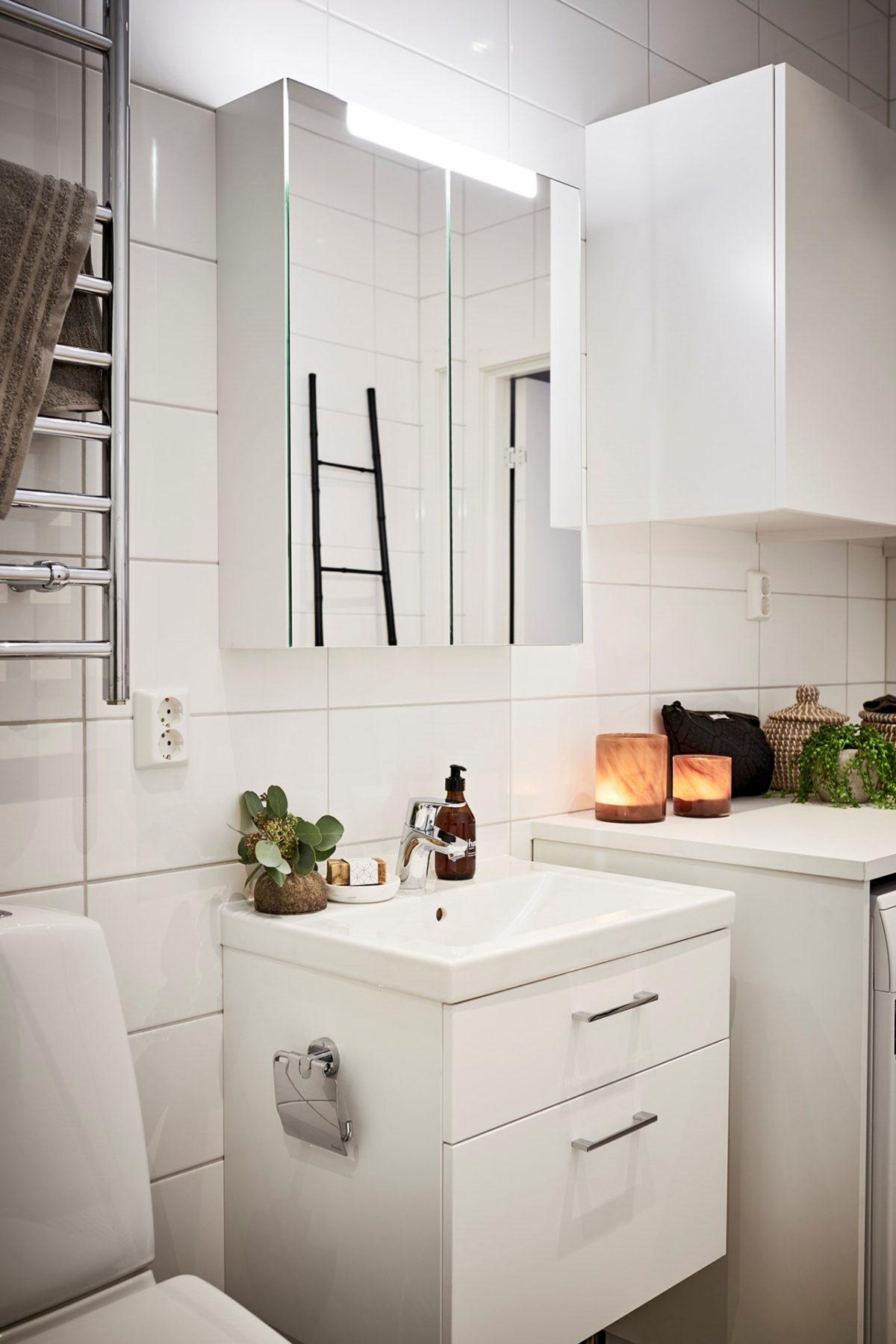 badrum på handfat