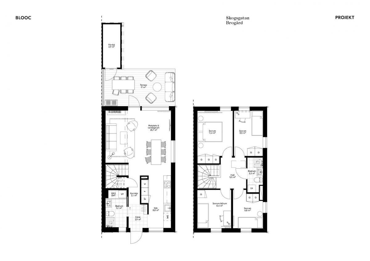 Skogsgatan 1 Planlösning Hus 3