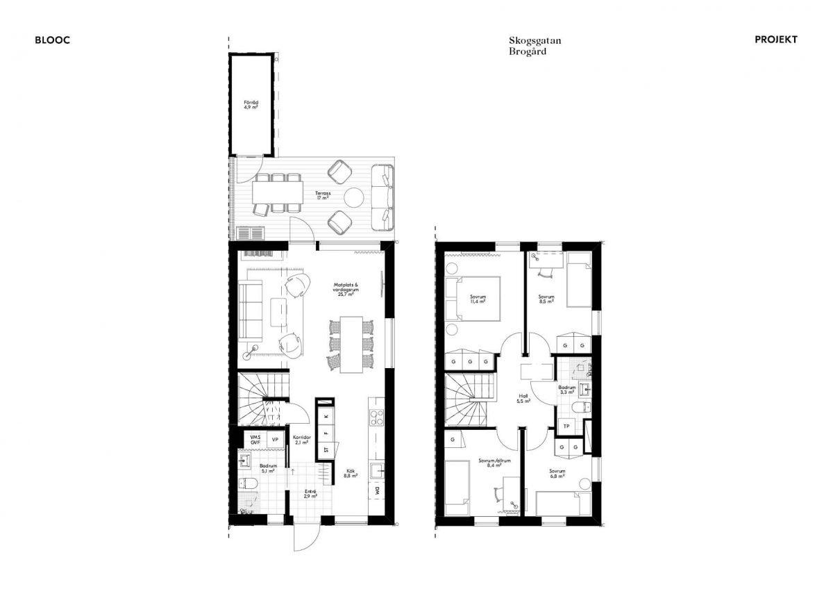 Skogsgatan 1 Planlösning Hus 15