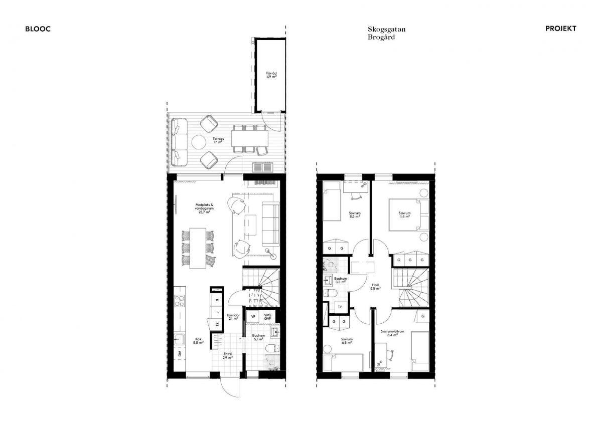 Skogsgatan 1 Planlösning Hus 14