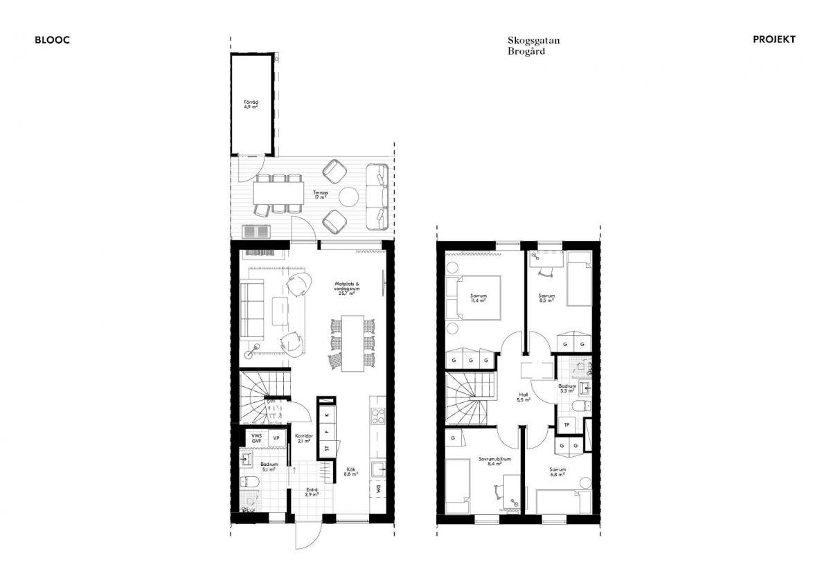 Skogsgatan 1 Planlösning Hus 2