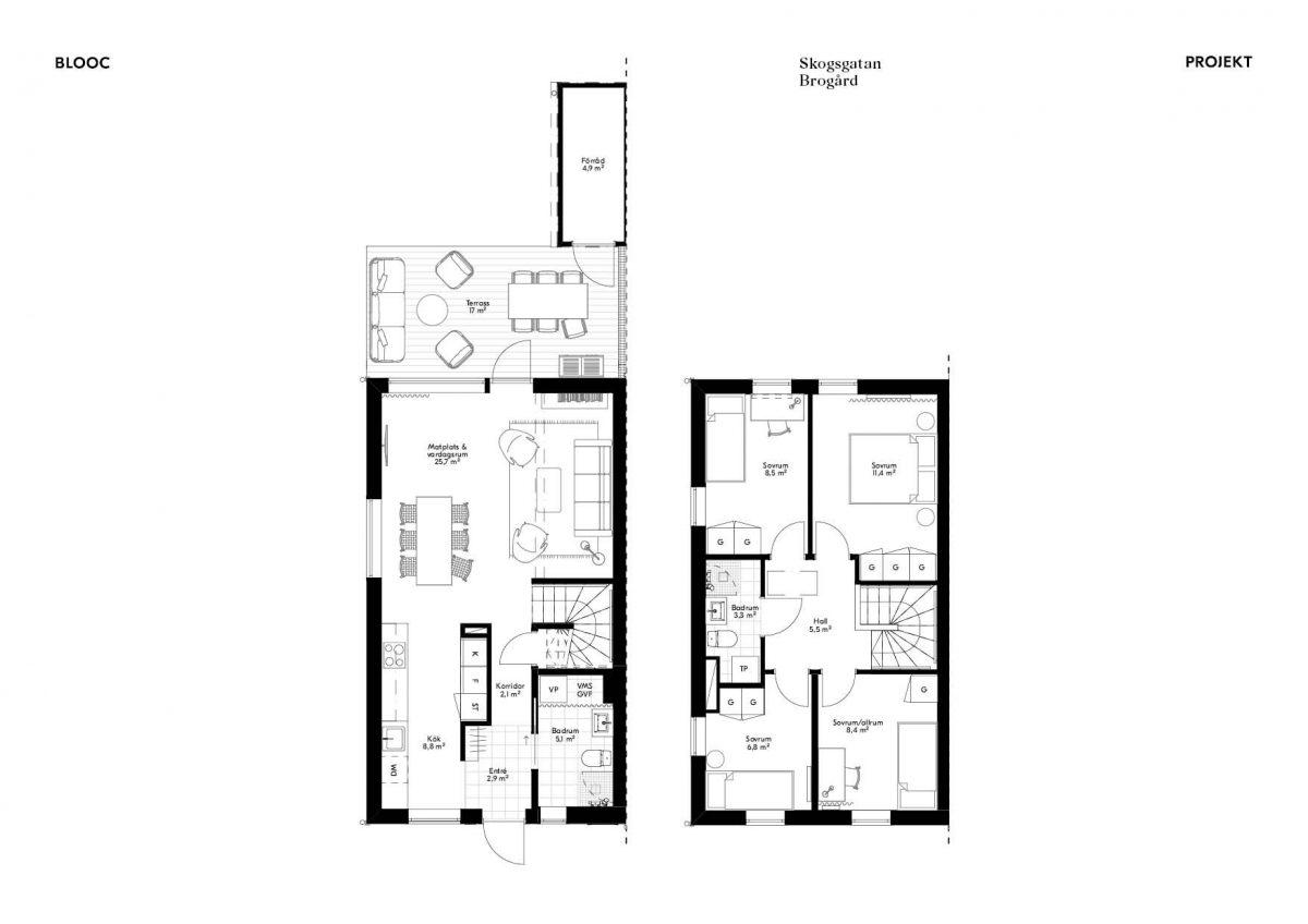 Skogsgatan 1 Planlösning Hus 4